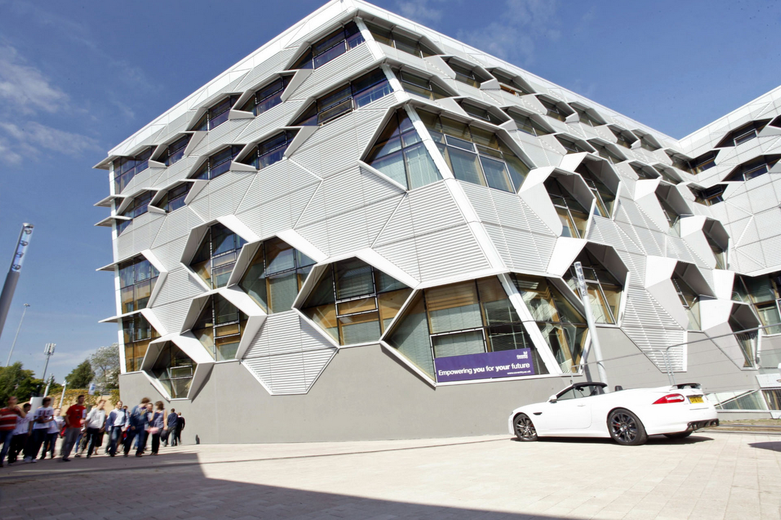The stunning Engineering and Computing Building, built in 2012