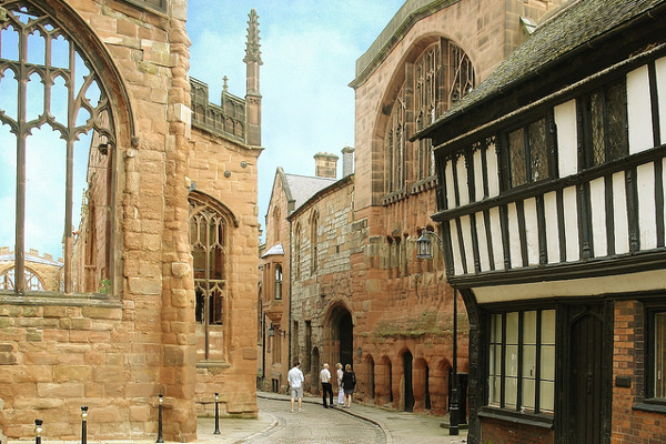 St Mary's Guildhall and Bayley Lane