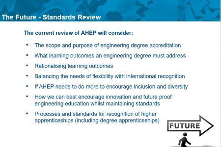 As part of AHEP review, Chief Executive, Alasdair Coates, invites EPC to influence Engineering Council review of UKSPEC. See more…