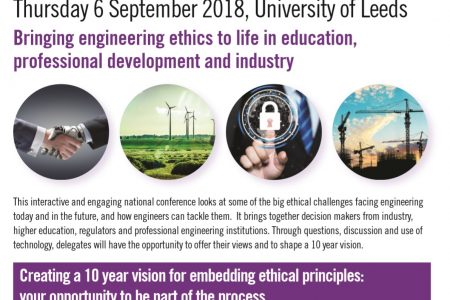 Engineering Ethics Conference: Bringing engineering ethics to life in education, professional development and industry. Join us on Thursday 6th September in creating a 10 year vision for embedding ethical principles into engineering practices. Exclusive discount for EPC members.